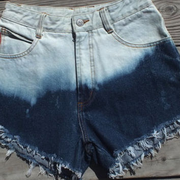 Bongo high waisted vintage jean shorts bleached cut offs