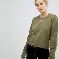 Juicy By Juicy Couture Gothic Logo Print Sweatshirt with Puff Sleeve at asos.com