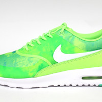 Nike Women's Air Max Thea Print Flash Lime Green Running Shoes 599408 300