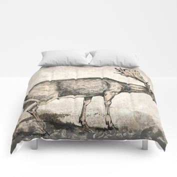 Vintage Stag Comforters by Vesoterica