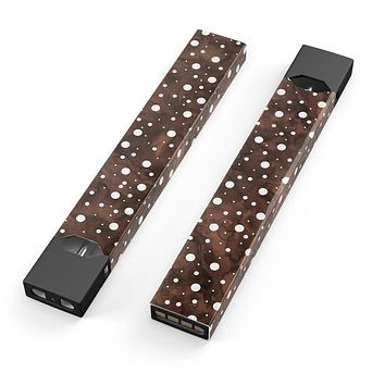 Skin Decal Kit for the Pax JUUL - Brown and White Watercolor Polka Dots