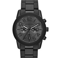 Michael Kors Oversize Black Stainless Steel Mercer Chronograph Watch
