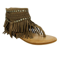 Naughty Monkey Hidden Treasure Brown Flat Sandals