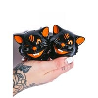 BLACK CATS SALT AND PEPPER SHAKER