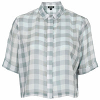 Crinkle Gingham Shirt