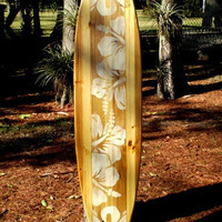 Natural Vintage Distress Wood Surfboard Wall Art Solid Wood Home Interior Decor Available in 5 different sizes