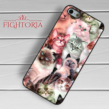 cat collage-yah for iPhone 6S case, iPhone 5s case, iPhone 6 case, iPhone 4S, Samsung S6 Edge