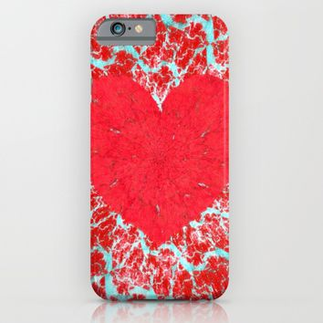 Winter heart. Valentine's day love confession iPhone & iPod Case by Natalia Bykova | Society6