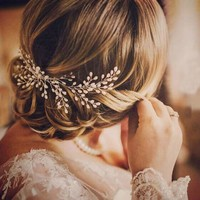 1PC Bridal Handmade Pearl Hair Comb Hairpin Wedding Prom Barrettes Hair Ornaments Women Accessories Jewelry
