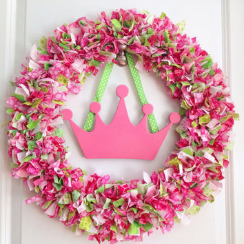 Personalized Princess Rag Wreath