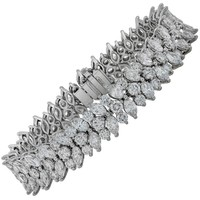 Magnificent Tiffany & Co. 20 Carat Diamond Platinum Bracelet