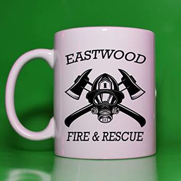 Fireman Fire Fighter Department Rescue Personalized Coffee Mug Cup