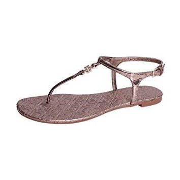Tory Burch Marion Quilted Sandal Size 8
