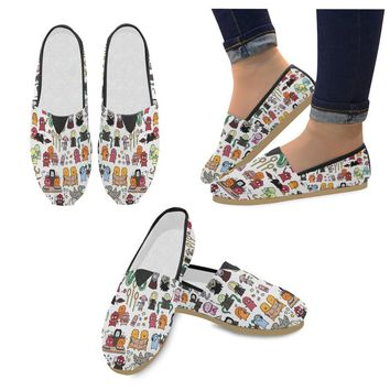 Kawaii-Harry-Potter-Doodle- Women's Casual Shoes