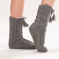 Cozy Knit Slipper Socks