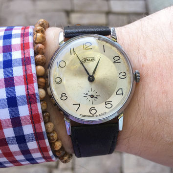 Vintage Zim mens watch, russian watch, cccp ussr, vintage russian watch