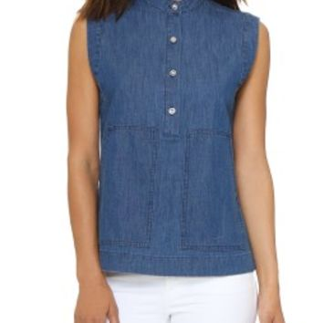 Light Weight Indigo Denim Top