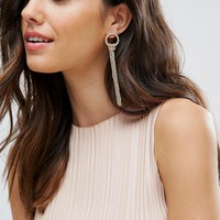 Pieces Chain Drop Earrings at asos.com
