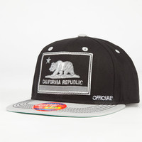 Official Cali Nation Boys Snapback Hat Black One Size For Women 23266210001
