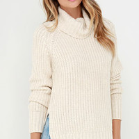 Glamorous Snow Day Light Beige Sweater