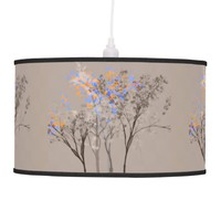 Pretty Flowering Shadow Trees Artsy Pendant Lamp