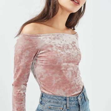 **Crushed Velvet Bardot by Nobodys' Child | Topshop