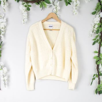 Vintage Nude Cardigan Sweater