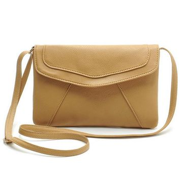 Hot Sale Vintage Leather Handbags Women Envelope Clutches Ladies Party Purse Famous Designer Messenger Crossbody Shoulder Bags