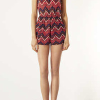 Orange Tribal Print Playsuit - New In This Week  - New In
