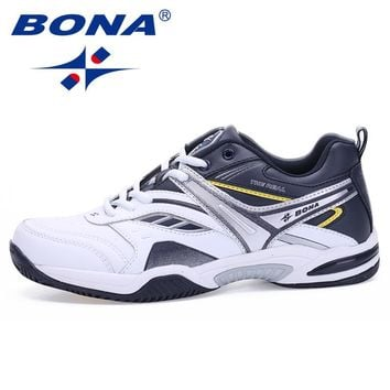BONA New Classics Style Men Tennis Shoes Lace Up Men