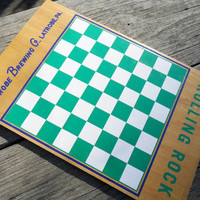 Vintage BEER Bottle Cap Checkerboard - Rolling Rock Beer