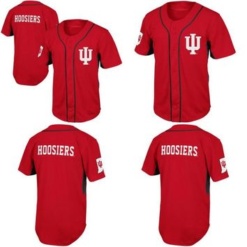 Indiana Hoosiers Fielder Throwback College Baseball Jersey 100% Stitched Embroidery Logos Retro Baseball Jerseys Any Name Number