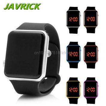 Men Womens Silicone LED Sport Watch Touch Digital Bracelet Wrist Watches Gift Cool Black Wristwatch