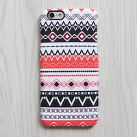 Ethnic Red Black iPhone 6s case iPhone 6 plus Case Ethnic iPhone 5S iPhone 5C Case White Tribal Samsung Galaxy S6 edge S6 S5 S4 Case 070