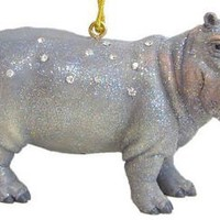 December Diamonds Rhinestone Studded Hippo-Will Sparkle on your Tree! This Unique Hippo is Completel