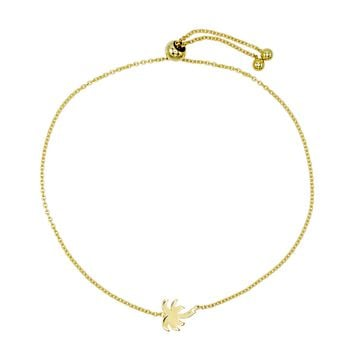 Palm Tree Adjustable Bracelet 14K