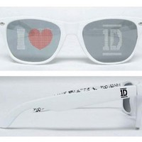 One Direction White I Heart 1D Sunglasses