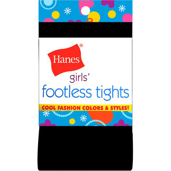 Hanes Girls Footless Tights