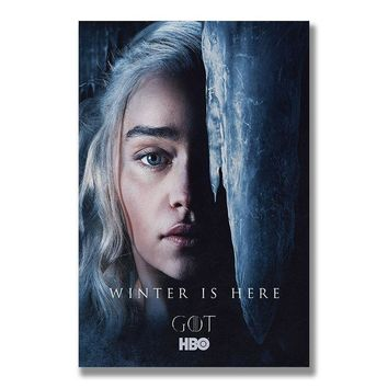 Game of Thrones 8 Silk Posters Wall Art Prints Painting 12x18 20x30 inch Decorative Pictures Living Room Decoration Daenerys 05