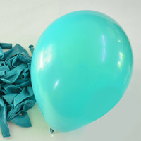 Latex Balloons Party Supplies, 12-inch, 12-piece, Turquoise