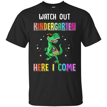 Kindergarten Here I Come Dinosaur Back To School Youth