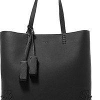 Tod's - Wave studded textured-leather tote