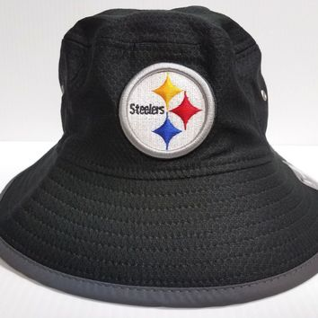 Pittsburgh Steelers New Era Cap 2017 On Field Training Bucket Reflective Hat NFL
