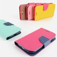 MagicPieces Candy Color PU Leather Wallet Type Flip Case Cover for Samsung S3--I9300/I9308/I9390 Hot Pink