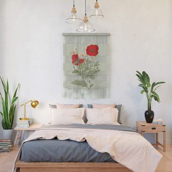A country garden flower bouquet -poppies and daisies Wall Hanging by anipani