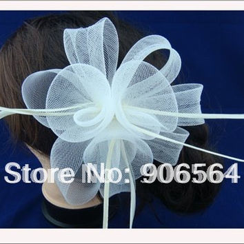 Promotion and free shipping multiple color  feather fascinator hats ,fashion feather hair accessories ,Very nice!MSF049