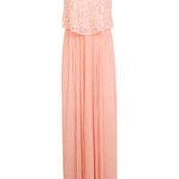 Coral Lace Overlay Maxi Dress - Clothing - New In