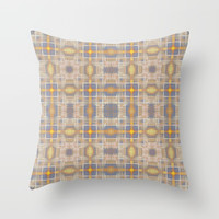 Faded gold crosses pattern Throw Pillow by steveball