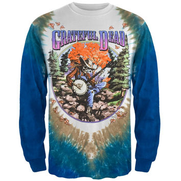 Grateful Dead - Banjo Tie Dye Long Sleeve T-Shirt
