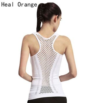 Women's Yoga Shirt Yoga Tank Tops Hollow Back Top Gym Jogging Vest Female Running FREE SHIPPING